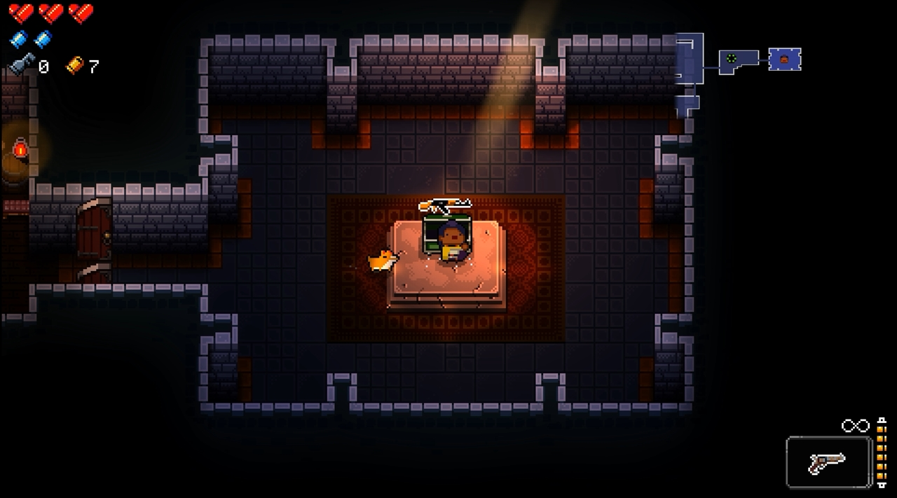 enter the gungeon 宝箱からAKが