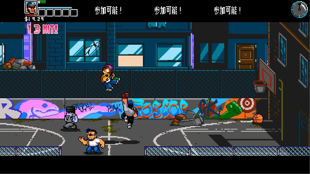 River City Ransom Underground バスケットボールコート