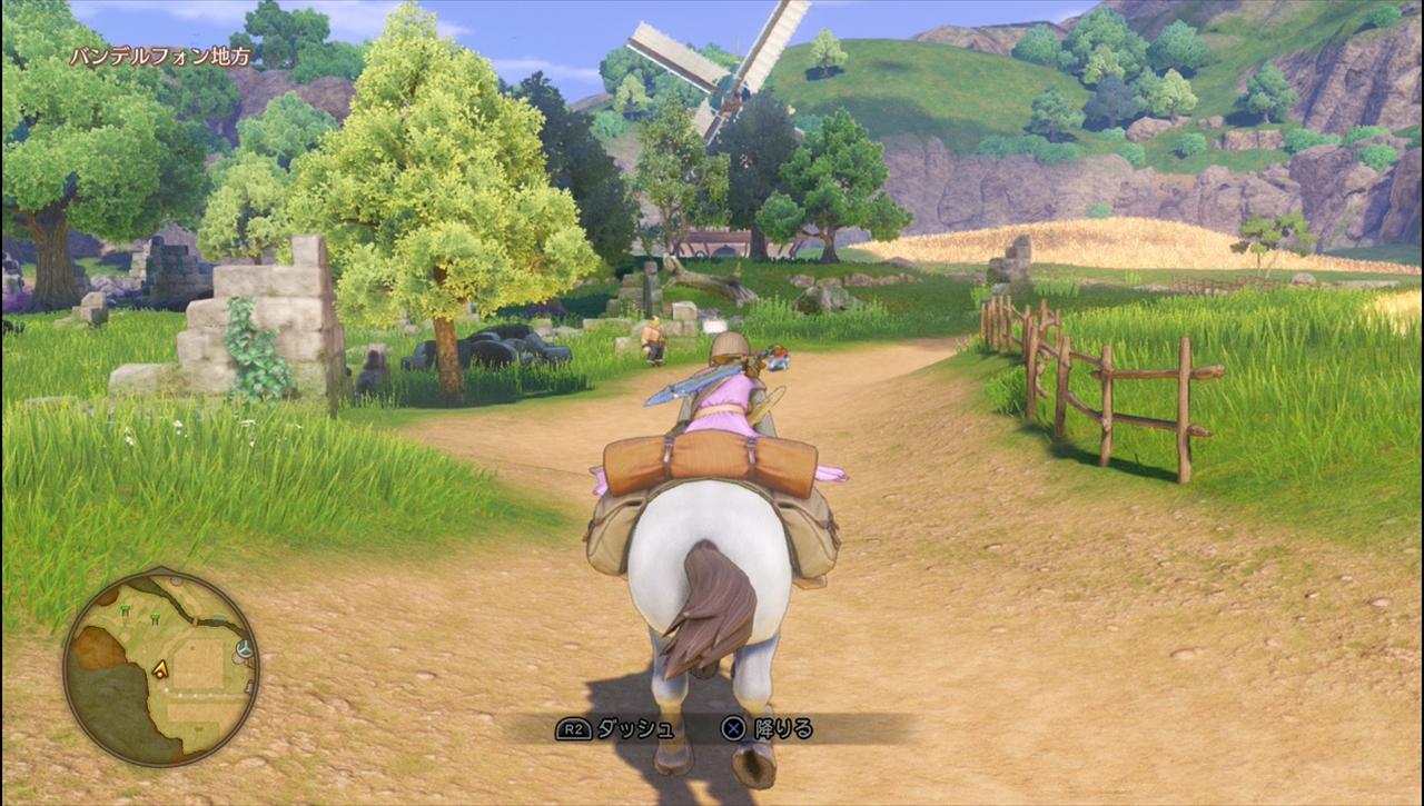 ドラゴンクエスト11 馬で駆け回るフィールド