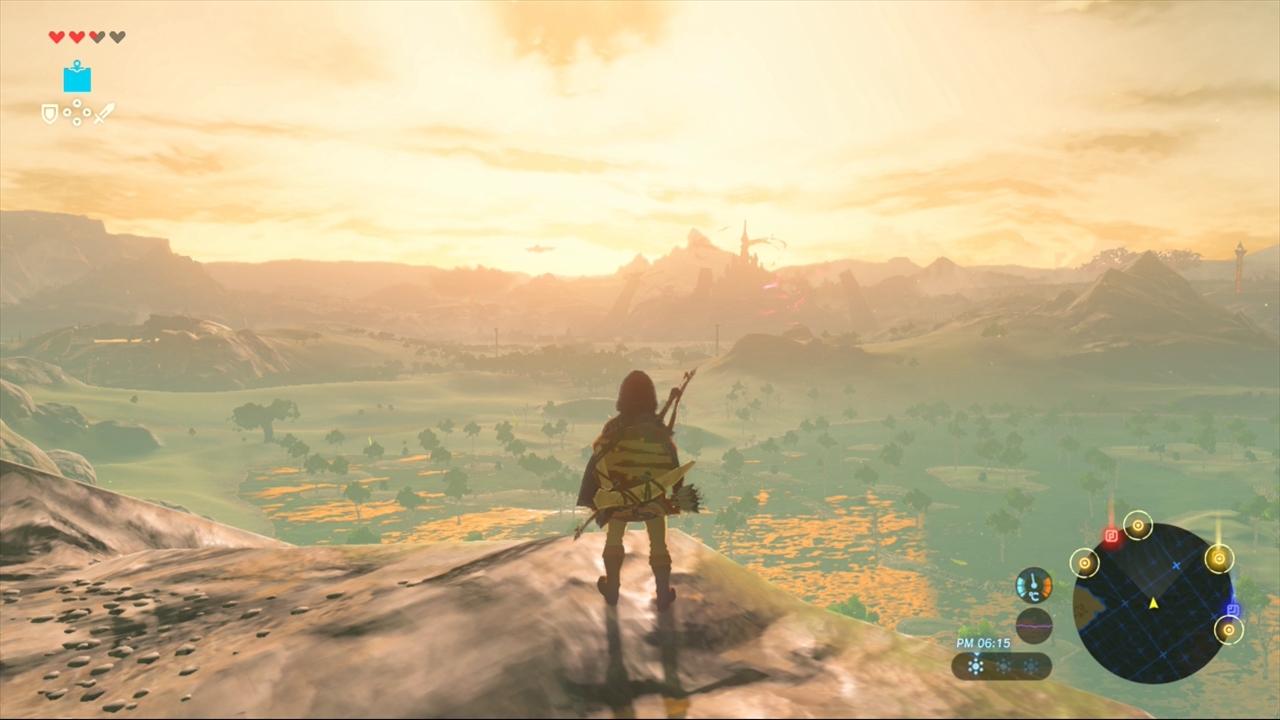 ゼルダの伝説 BotW 高台から見渡す景色